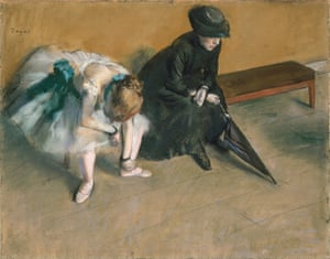 FRANCE - CIRCA 2002:  Waiting (L'attente), ca 1882, by Edgar Degas (1834-1917), pastel on paper, 48.2 x61 cm. (Photo by DeAgostini/Getty Images); . (Photo by DeAgostini/Getty Images)horizontal|indoors|day|sitting|dress|umbrella|onlywomen|twopeople|fineartpainting|1882|illustrationandpainting|frenchculture|edgardegas|impressionism|balletdancer|bench|historicalclothing|waiting|pasteldrawing|hat
