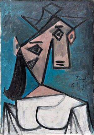 Woman's Head by Pablo Picasso. Photograph: Succession Picasso/DACS, London 2015/Getty