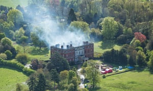 Clandon Park House gutted by huge fire