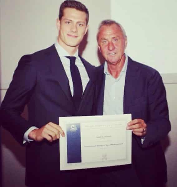 Jamie Lawrence and Johan Cruyff