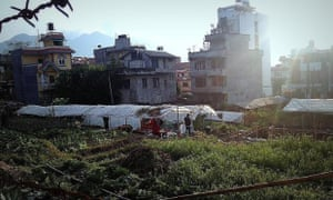 Rough sleepers in Nepal