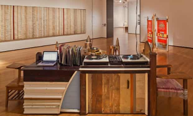 Theaster Gates's Listening Room, recreated in Seattle Art museum, 2011.