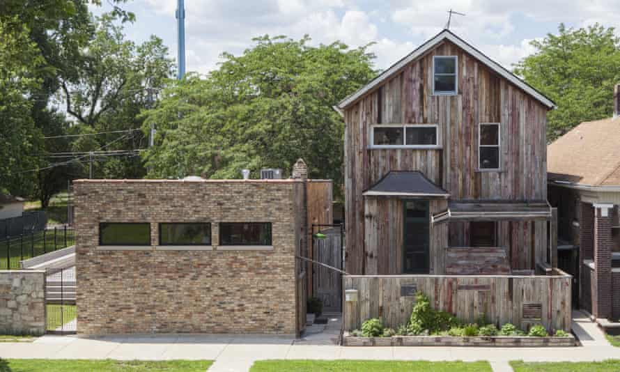 One of Theaster Gates's repurposed houses that make up his Dorchester Projects.