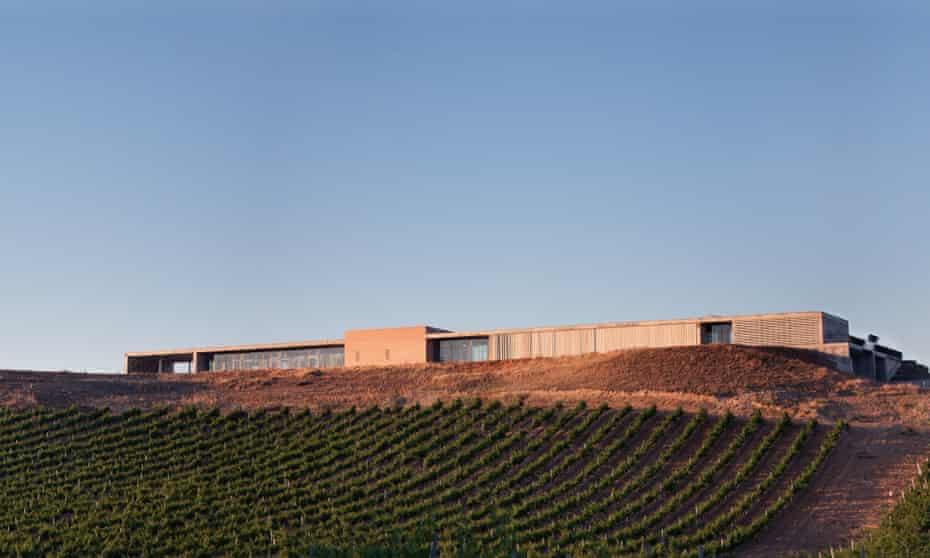 The modern Finca Montepedroso, near Rueda, Spain