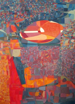 Alice at the concert acrylic on paper, inspired by a piano concert; one piano, two players