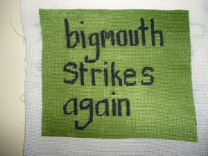 """bigmouth strikes again Inspired by a boastful man I was dating who wouldn't stop using the words """"you should..."""""""