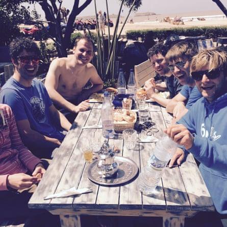 Phil Richards and fellow windsurfers on Essaouira beach