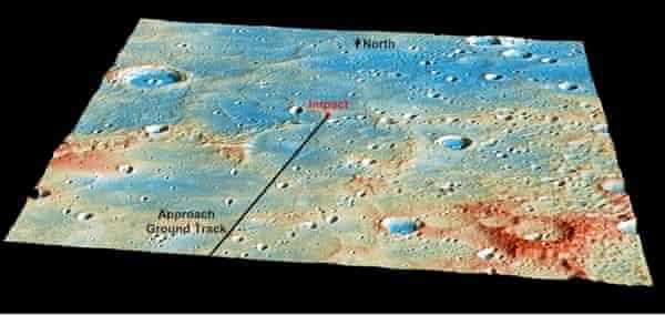 Details of MESSENGER's Impact Location mercury