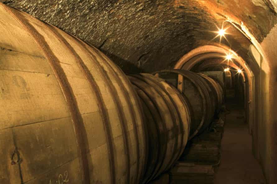 The cellars at Bodegas de Alberto
