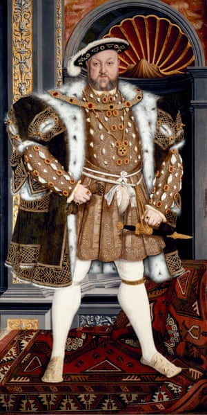 Henry VIII, from the studio of Hans Holbein the Younger, 1540-50.