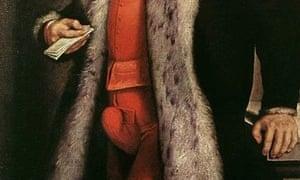 A proud codpiece from a Renaissance portrait