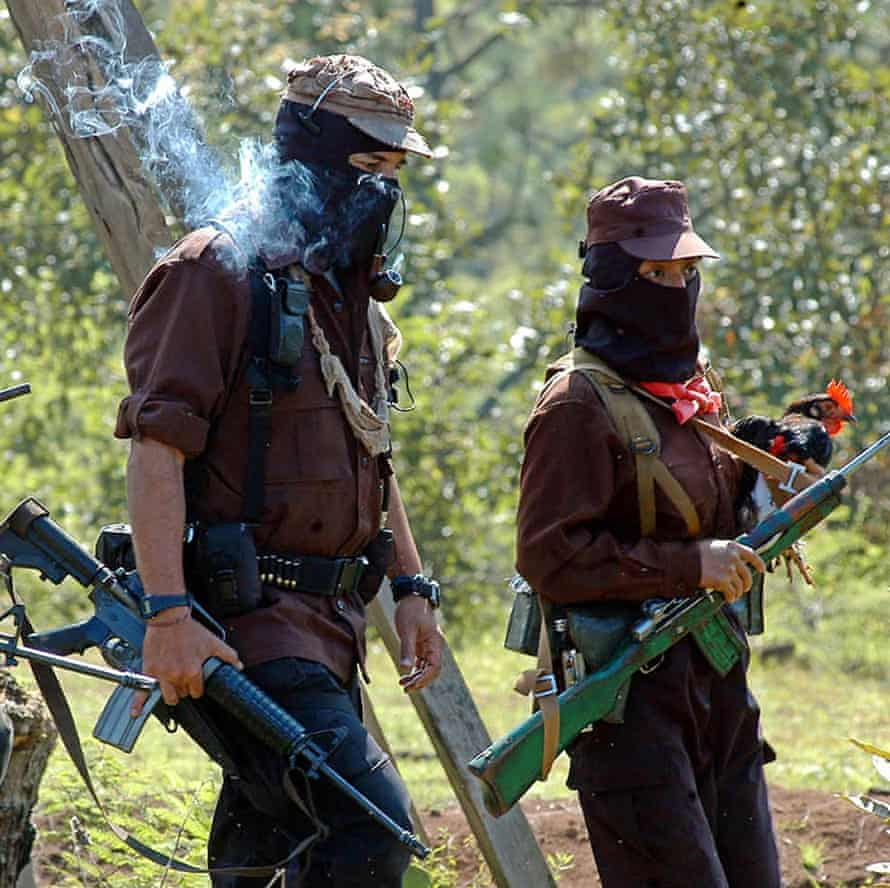 The pipe-smoking leader of the Mexican Zapatista Army of National Liberation (EZLN) Subcomandante Marcos.