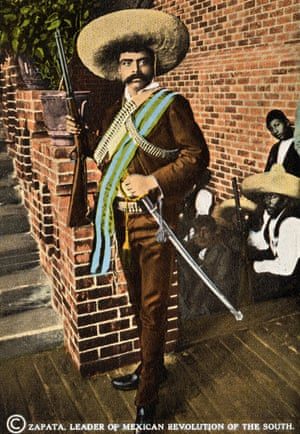 A postcard depicts, Emiliano Zapata, leader of Mexican Revolution of the South.