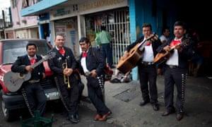 Mariachi musicians in Guatemala City.