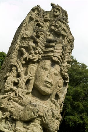 Detail from the Copan ruins of Honduras, Central America.