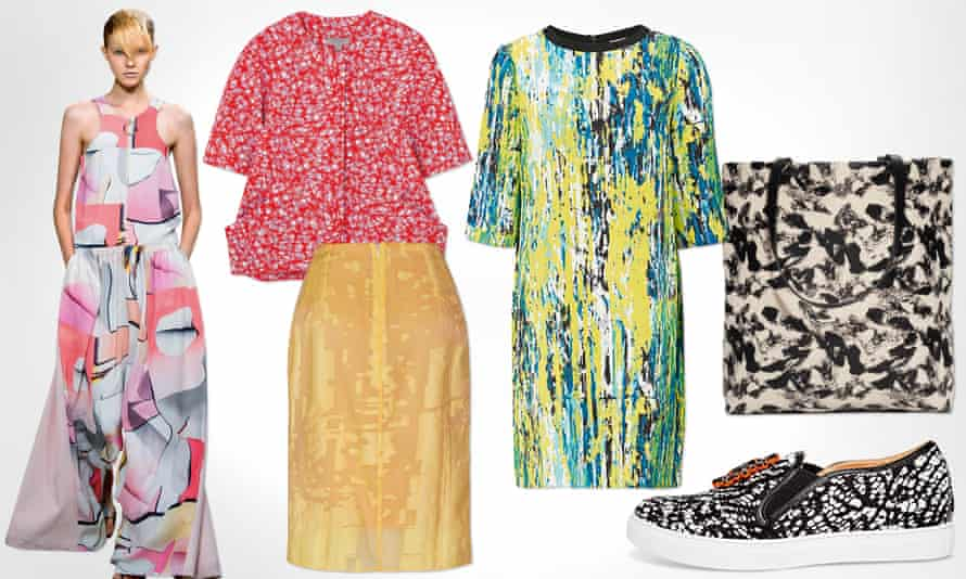 Abstract patterned fashion