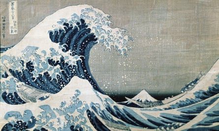 Beneath the Great Wave off Kanagawa, by Katsushika Hokusai, circa 1831.