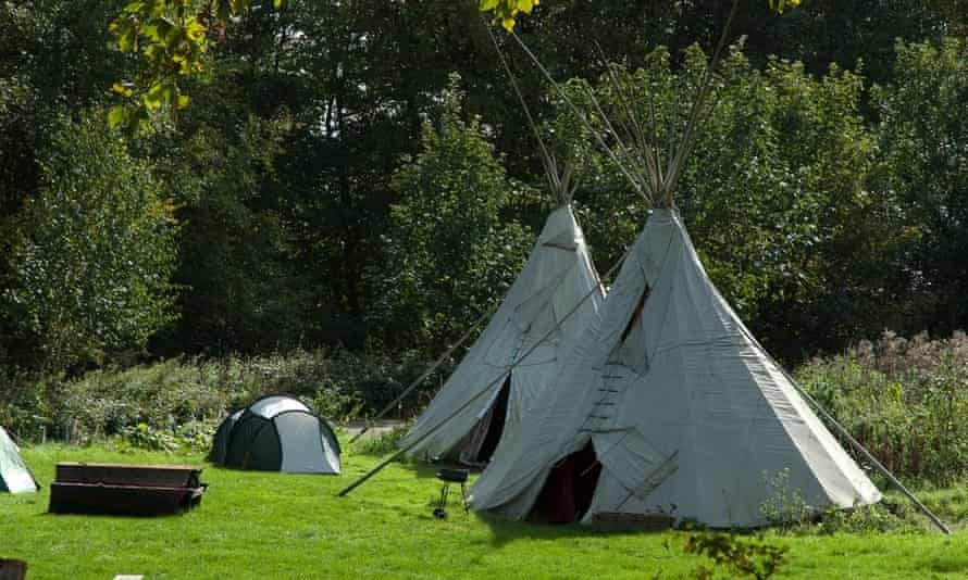 Campsite at Sustainability Centre, East Meon, Hampshire