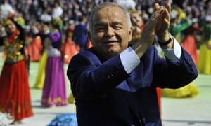 Uzbekistan's President Islam Karimov applauds during festivities in Tashkent in March 21 2015.