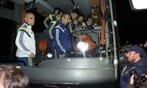 Fenerbahce's team bus