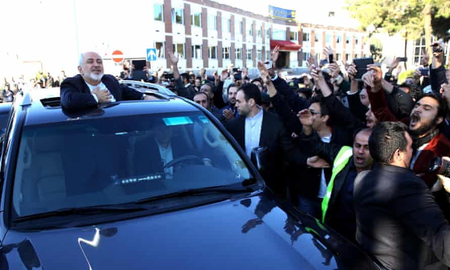 Mohammad Javad Zarif received a hero's welcome when he returned from the talks.