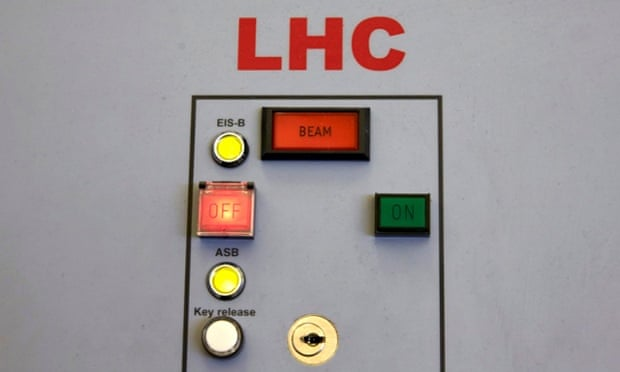 Switches in the control centre of the Large Hadron Collider.