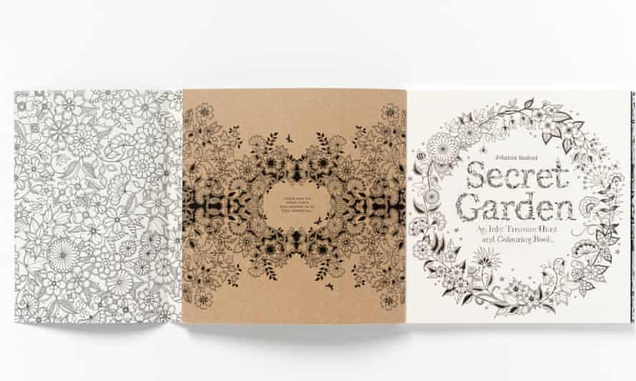The intricate outlines of adult colouring books.