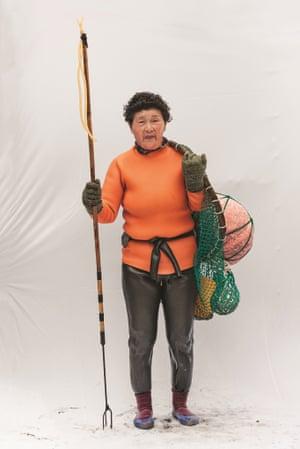 South Korean female diver