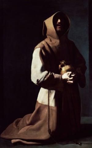 Saint Francis in Meditation (1635-39) by Francisco de Zurbarán