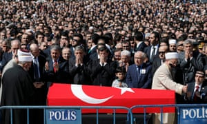 The funeral of prosecutor Mehmet Selim Kiraz, who was taken hostage by the DHKP-C, in Istanbul.