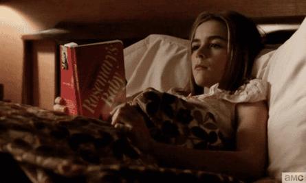 Sally reads Rosemary's Baby