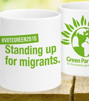 The Green party's 'standing up for migrants' mug