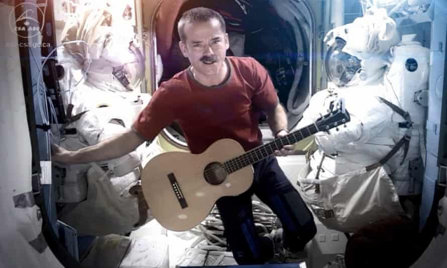 Chris Hadfield singing David Bowie's Space Oddity aboard the International Space Station in 2013.
