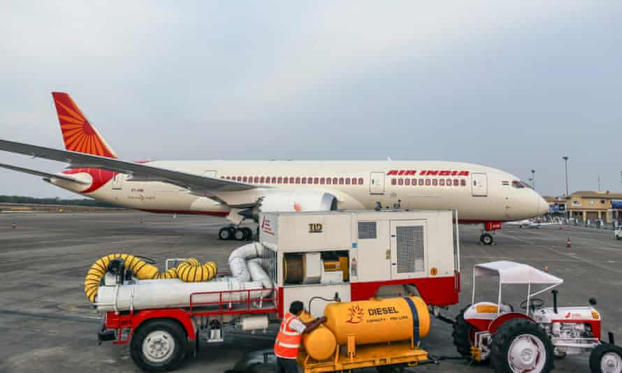 An Air India Dreamliner jet. The Times of India said the first officer took offence at being asked to write down flight information and beat up the captain.