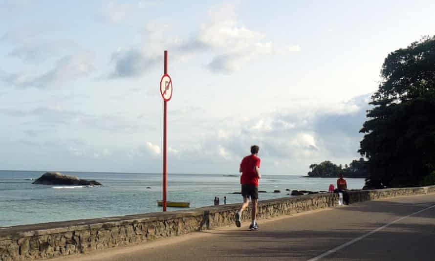 Running in the Seychelles. As you do.