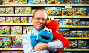 Gary Grant, managing director of The Entertainer toy shop, and friends.