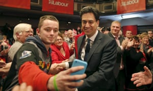 Ed Miliband, pictured at a campaign event in Warrington, has showed 'real leadership on the EU', Tony Blair will say.