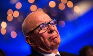 Rupurt Murdoch at the Warner bid announcement