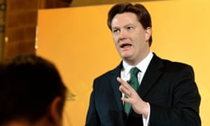 Danny Alexander at the media briefing. He said his party had had to fight tooth and nail at every budget to raise the personal allowance.