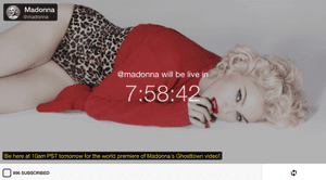 Madonna's Meerkat profile.