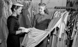 Women in dress shop