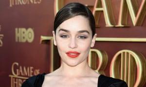 Emilia Clarke at HBO's Game of Thrones season five premiere