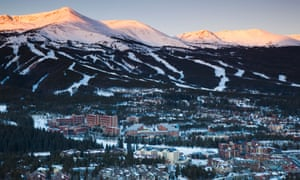 A ski resort in Breckenridge, Colorado, outside of Denver. In preparation for the 1972 games, officials planned to use resorts far outside Denver to host Olympic events, but faced stiff opposition.