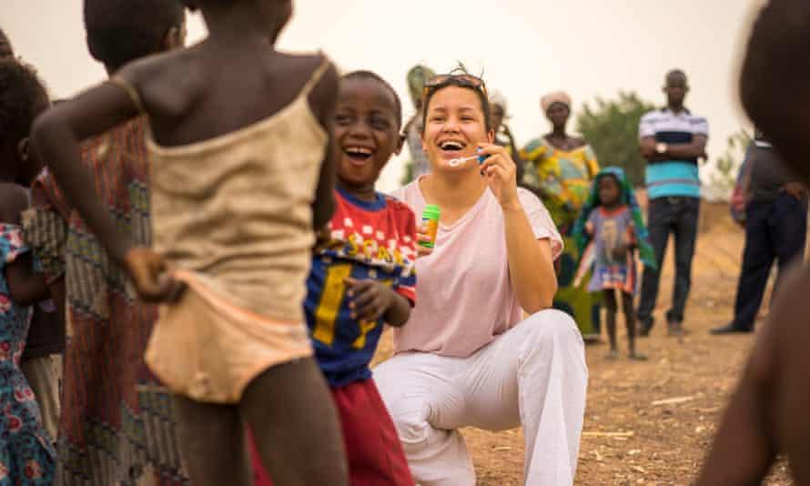 Emily Pemberton and Ghanaian children