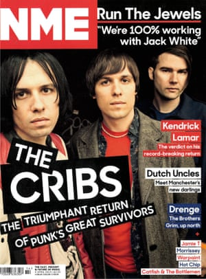 NME cover with The Cribs. April 2015
