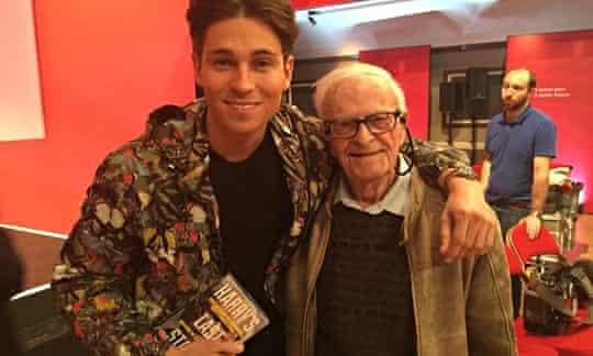 Harry Leslie Smith with Joey Essex