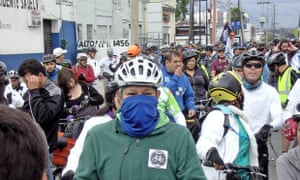 Cyclists take to the streets to mourn the death of Don Gus
