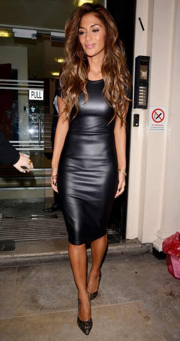 Missguided brand ambassador Nicole Scherzinger wearing a dress from the label.