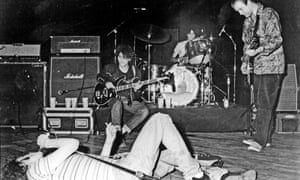 Original Replacements … the first lineup (from left) of Paul Westerberg, Tommy Stinson, Chris Mars and Bob Stinson.