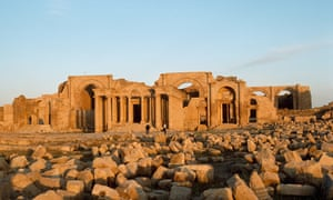 The remains of the ancient Parthian city of Hatra.